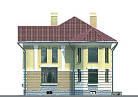 Проект бетонного дома 52-36 фасад