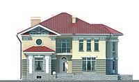 Проект бетонного дома 52-37 фасад