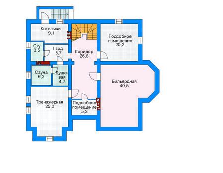 Проект бетонного дома 52-37 план