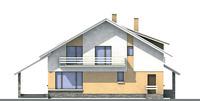 Проект бетонного дома 52-39 фасад