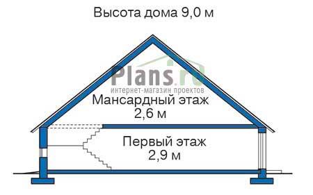 Проект бетонного дома 52-39 план
