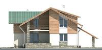 Проект бетонного дома 52-42 фасад