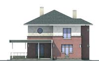 Проект бетонного дома 52-45 фасад