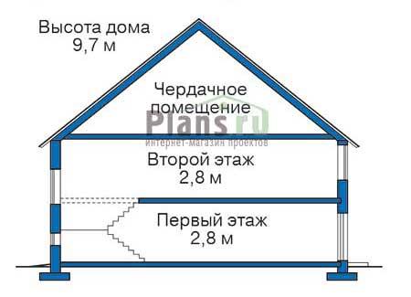 Проект бетонного дома 52-45 план