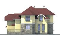 Проект бетонного дома 52-54 фасад