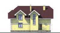 Проект бетонного дома 52-59 фасад