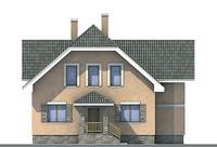 Проект бетонного дома 52-68 фасад