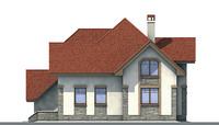 Проект бетонного дома 52-69 фасад