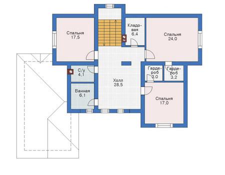 Проект бетонного дома 52-69 план