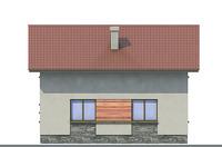 Проект бетонного дома 52-71 фасад