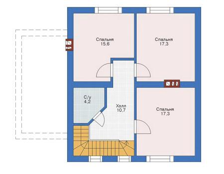 Проект бетонного дома 52-71 план