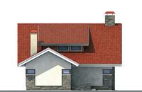 Проект бетонного дома 52-74 фасад