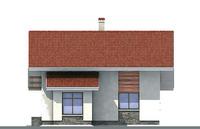 Проект бетонного дома 52-75 фасад
