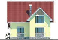 Проект бетонного дома 53-02 фасад