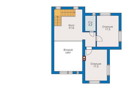 Проект бетонного дома 53-03 план
