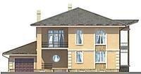 Проект бетонного дома 53-25 фасад