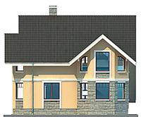 Проект бетонного дома 53-29 фасад