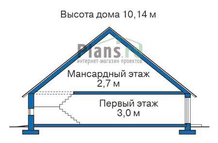 Проект бетонного дома 53-29 план