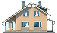 Проект бетонного дома 53-35 фасад