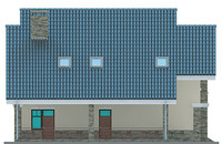 Проект бетонного дома 53-43 фасад