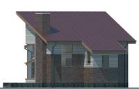 Проект бетонного дома 53-54 фасад