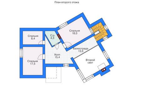 Проект бетонного дома 53-54 план