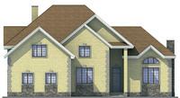 Проект бетонного дома 53-62 фасад