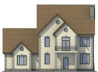Проект бетонного дома 53-67 фасад