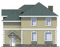 Проект бетонного дома 53-75 фасад