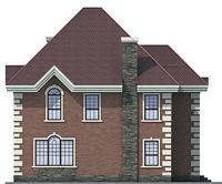 Проект бетонного дома 53-86 фасад