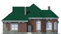 Проект бетонного дома 53-87 фасад