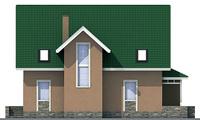 Проект бетонного дома 53-94 фасад