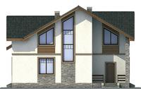 Проект бетонного дома 54-00 фасад