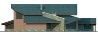 Проект бетонного дома 54-09 фасад