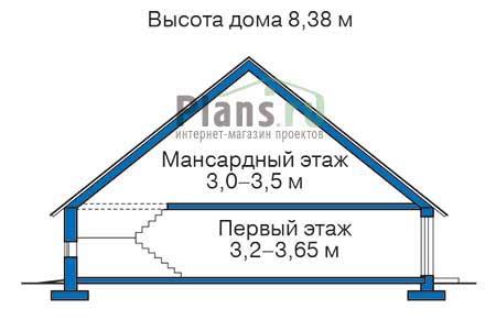 Проект бетонного дома 54-09 план