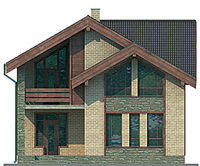Проект бетонного дома 54-14 фасад