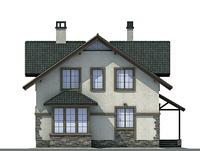 Проект бетонного дома 54-26 фасад