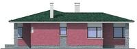 Проект бетонного дома 54-55 фасад
