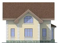 Проект бетонного дома 54-66 фасад