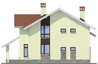 Проект бетонного дома 54-86 фасад