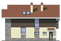 Проект бетонного дома 54-90 фасад