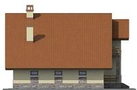 Проект бетонного дома 55-11 фасад