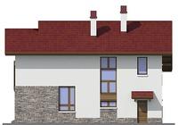 Проект бетонного дома 55-12 фасад