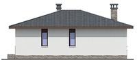 Проект бетонного дома 55-28 фасад