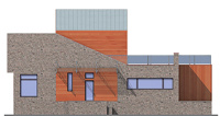 Проект бетонного дома 55-33 фасад