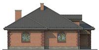 Проект бетонного дома 55-51 фасад