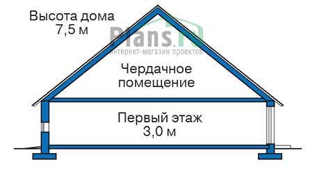 Проект бетонного дома 55-51 план
