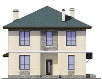 Проект бетонного дома 55-54 фасад