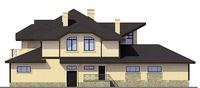 Проект бетонного дома 55-57 фасад