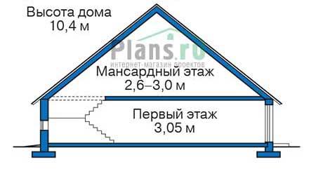 Проект бетонного дома 55-57 план